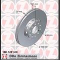 S4/S6/A8 Zimmermann etujarrulevyt pari 314x30mm