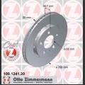 A3/S3/TT Zimmermann takajarrulevyt pari 256x22mm